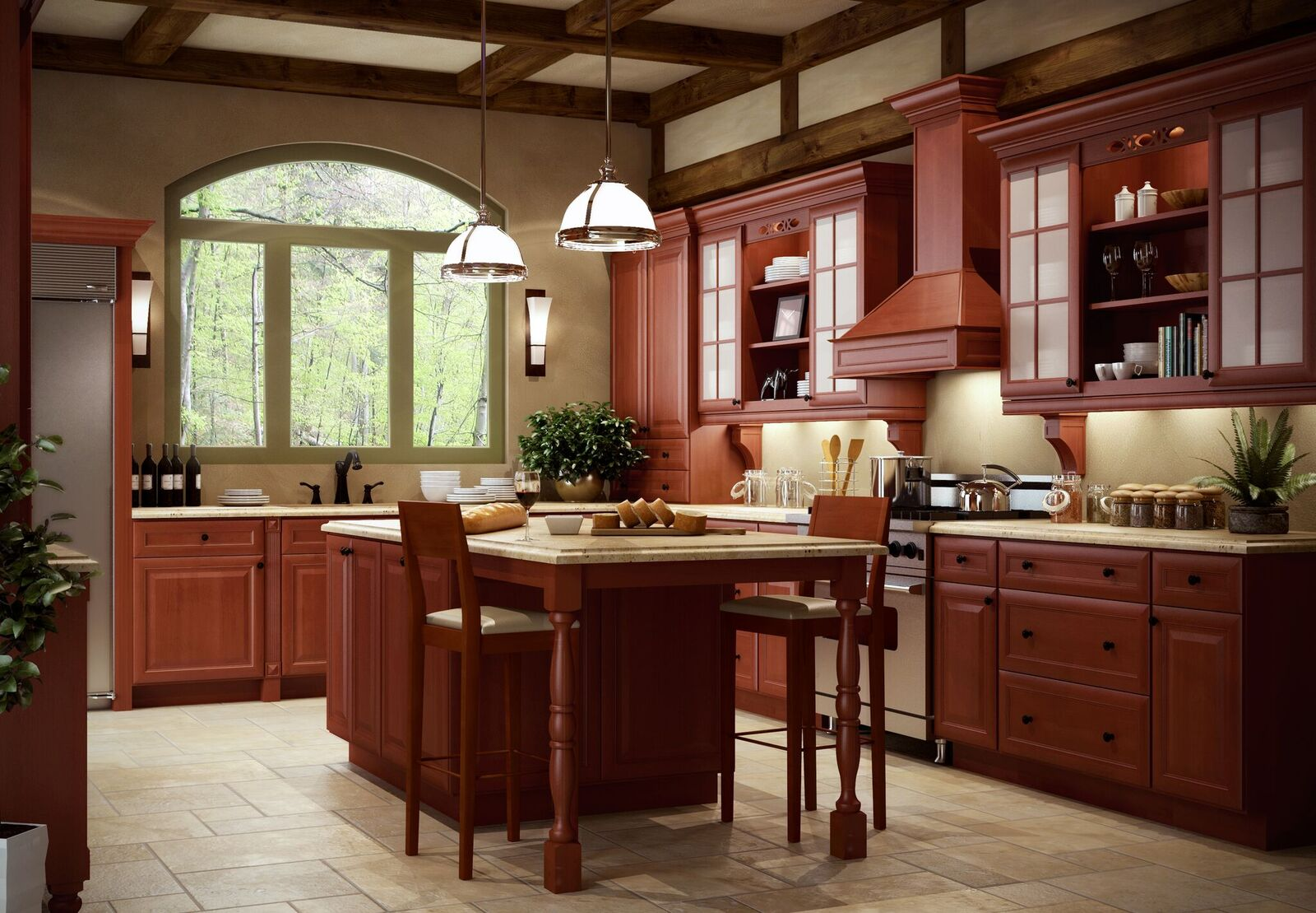 Free estimate kitchen cabinets - Classic Cinnamon 5day Cabinets All Wood Kitchen Cabinets Sales Installation Granite