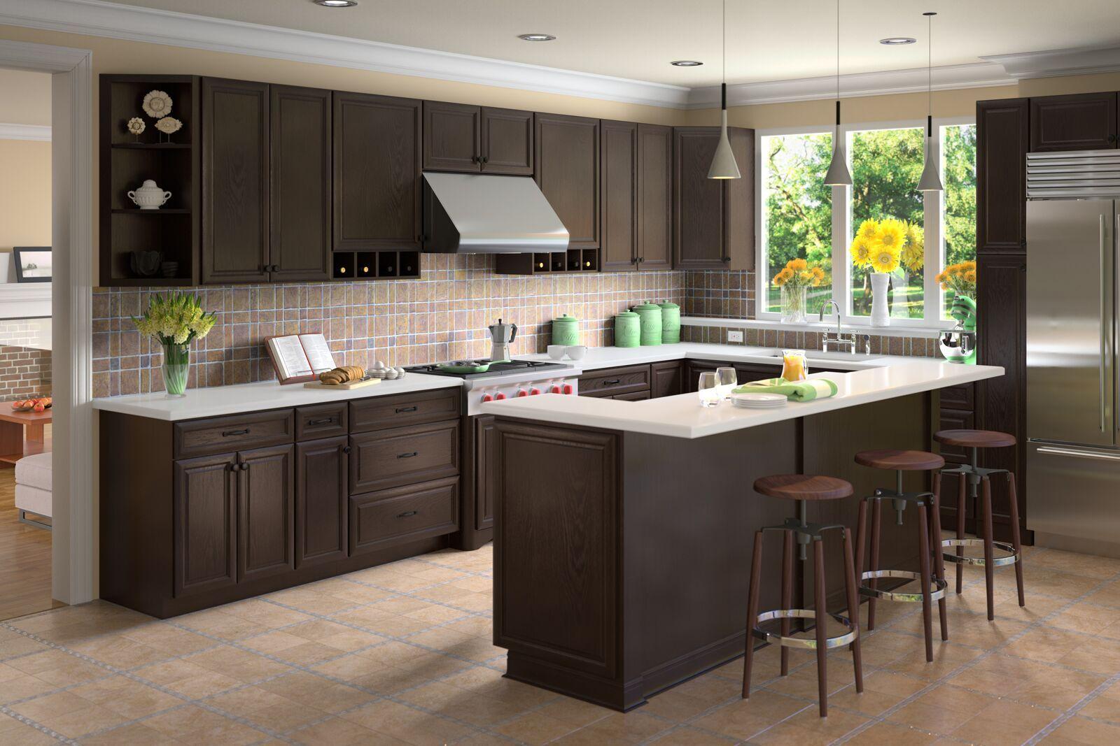 Free estimate kitchen cabinets - Classic Espresso 5day Cabinets All Wood Kitchen Cabinets Sales Installation Granite