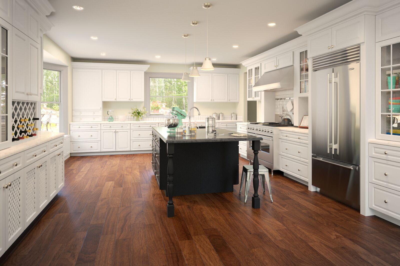 Free estimate kitchen cabinets - Gramercy White 5day Cabinets All Wood Kitchen Cabinets Sales Installation Granite
